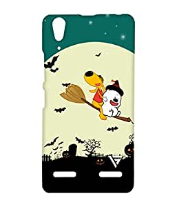 Vogueshell Cartoon Flying Printed Symmetry PRO Series Hard Back Case for Lenovo A6000