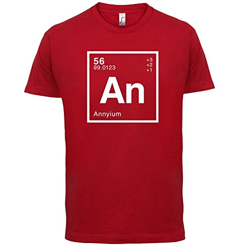 Anny Periodensystem - Herren T-Shirt - 13 Farben Rot
