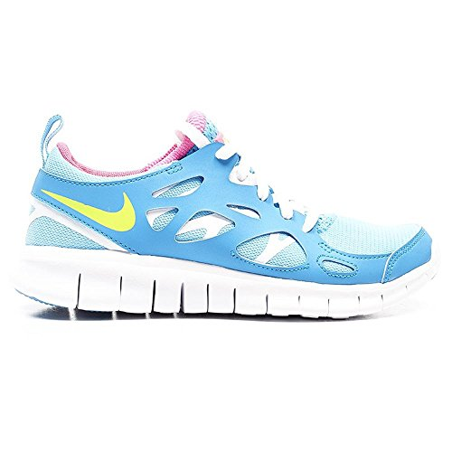 Nike Free Run 2 (GS) Scarpe da Corsa, Unisex Bambino Blu (Light Blue)