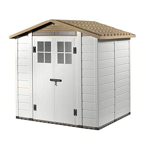 Vogelhaus PVC mit Boden Box Ausrüstungstasche beige Gartenmöbel Tuscany evo-200 -