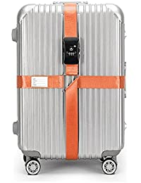 CSTOM Sangle Bagage Agréée TSA avec Verrouillage à 3 Chiffres pour Bgages Sangles de Voyage Valise