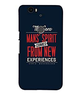 TOUCHNER (TN) Experiences Back Case Cover for Huawei Google Nexus 6P