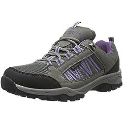 Mountain Warehouse Path Zapatos Impermeables para Caminar para Mujer - Transpirables, con Forro de Malla, con Suela de Alta tracción - para Senderismo, Trekking, Acampar Gris Oscuro 41