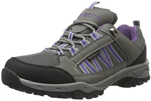 Mountain Warehouse Path Waterproof Womens Walking Shoes - Breathable Ladies Shoes, Mesh Lining, High Traction Sole Hiking Shoes - For Everyday Use Dark Grey 7 UK