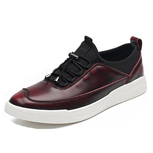 Uomo Spessore inferiore Scarpe casual Moda Scarpe sportive Scarpe da diporto formatori All'aperto Scarpe da lavoro euro DIMENSIONE 38-44 Red