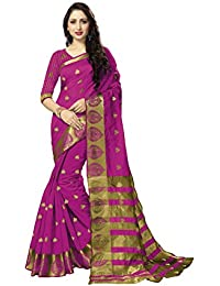 Art Silk Saree (Kanjivaram)With Blouse Piece Zari Butta And Zari Border (sarees For Women Party Wear,sarees New...