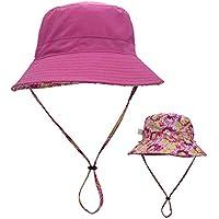 Rinder - Sombrero de pescador de doble cara para niños con el mismo párrafo al aire libre con cuerda resistente al viento para vacaciones, escuela, viajes, senderismo, color C, tamaño L 58-60CM