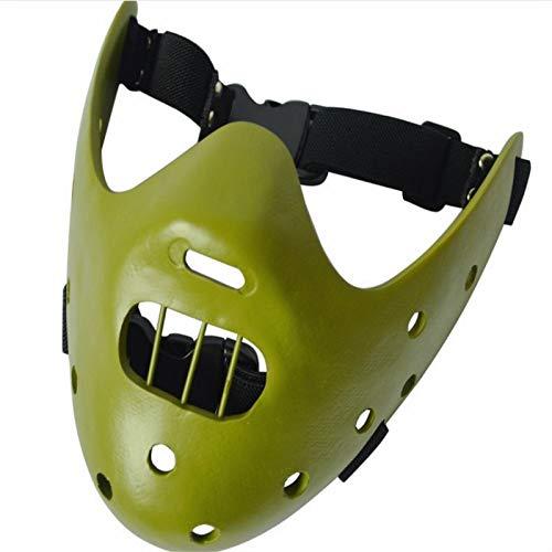 er Maske/Silent Lamb/Hannibal Harz Maske Halloween Maske Handwerk 19,5 * 18,5 cm ()
