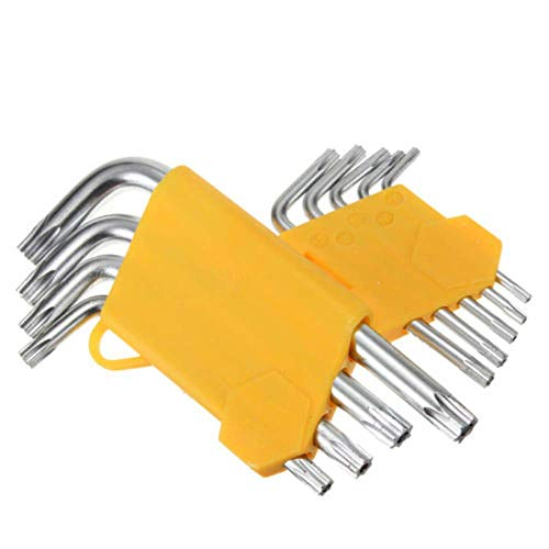 9pcs /set Torx Hex Key Wrench Set,Long Arm Star Key Wrench Set,Hex L -Wrench Tools Kit for Machine Repair ect. -