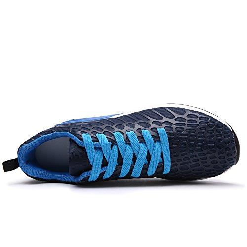 Maylen Hughes Unisex Laufschuhe Leichtes Walking Schuhe Marine