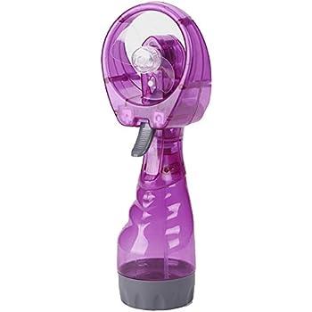 Ventilateur portatif /à jet deau pour l/ét/é Ventilateurs Handheld Fan Portable Travel Ventilateurs Ventilateurs de Poche Batterie pour Maison Bleu