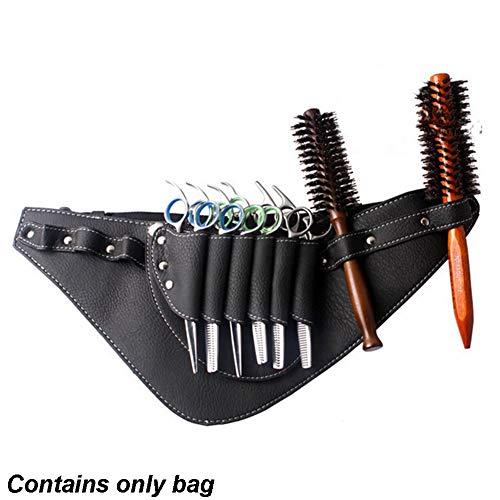 Cinturón de herramientas para peluquería, tijeras de piel sintética, bolsa para herramientas de peluquería, bolsa de mano, bolsa portátil para tijeras de peine