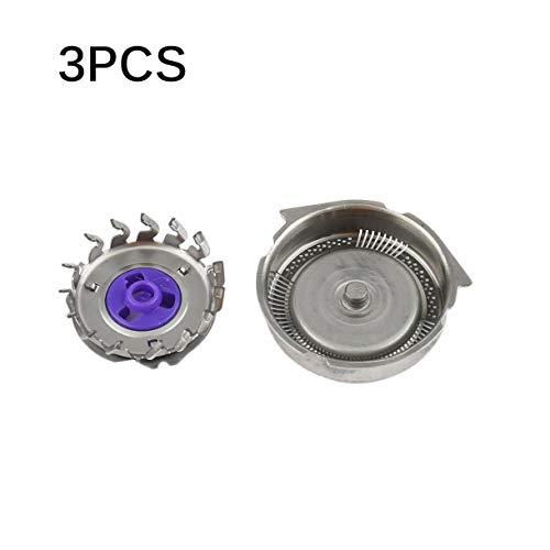 3 pcs sostituzione del rasoio capo cutters adatto per philips norelco rasoio elettrico hq8 argento