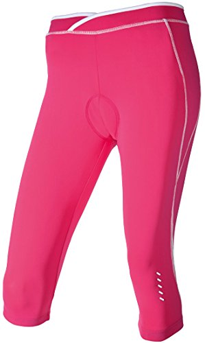 CRIVIT Damen Fahrradhose Capri (Gr. M 40/42, pink)