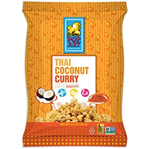 Arte pop Snacks - Gluten Gourmet gratis palomitas Thai Coconut Curry - 5 oz.