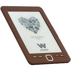 "Woxter EB26-044 - Lector de Libros Electrónicos, 6"" HD E-Ink Pearl 800x600, 4Gb Memoria, Marrón"