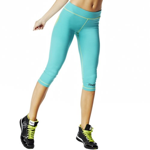 Zumba Fitness, Pantaloni Donna Outta-My-Space Capri Leggings Blu (Marine)