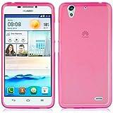 TBOC® Funda de Gel TPU Rosa para Huawei Ascend G630 de Silicona Ultrafina y Flexible