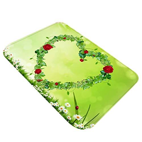 YWLINK SchöNen Muttertag FußMatte Teppiche Mit Quadratischem Muster KüChe Badezimmer rutschfest Atmungsaktiv Teppiche 40X60CM