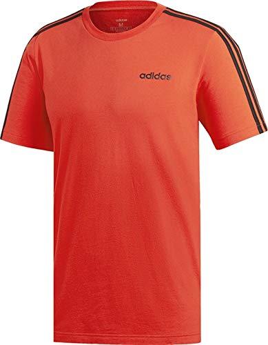 Adidas essentials 3 stripes t-shirt, maglietta uomo, active rosso/nero, xl