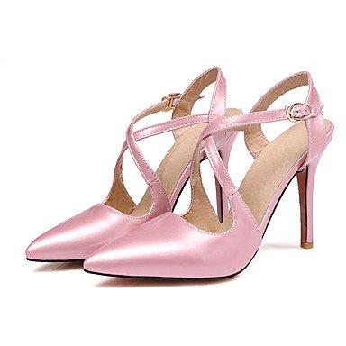 LvYuan Sandali-Ufficio e lavoro Formale Serata e festa-Con cinghia-A stiletto-PU (Poliuretano)-Nero Rosa Rosso rose pink