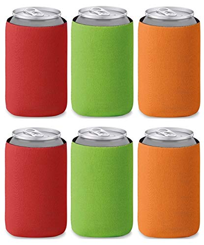 Libetui Faltbare farbige Dosenkühler Bierkühler Flaschenmarkierer für unterwegs, Grillparty, Picknick, Ausflug, für 0,33l Dosen/Bierdosen