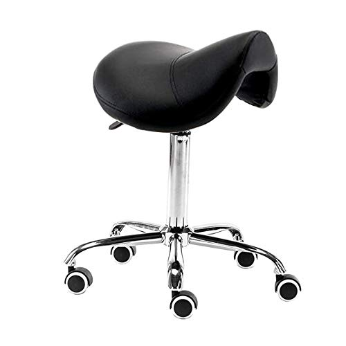 Bürohocker ZX- Sattel Salon Massagestuhl Chair Verstellbarer Hydraulischer Gasheber Ergonomischer Hocker for Friseur Maniküre Tattoo Therapie Massage Spa Salon (Color : A3) -