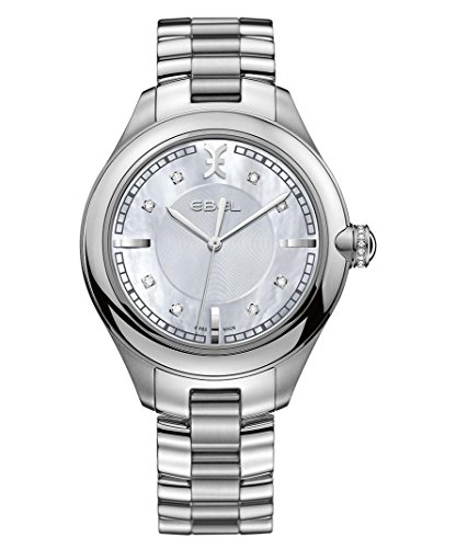 Ebel Damen Uhr Analog mit Edelstahl Armband 1216136 - Damen Diamanten Ebel Uhren