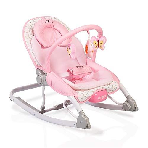 *Cangaroo Babywippe Carrie mit Musik und Vibration, Spielbogen, ab Geburt rosa*