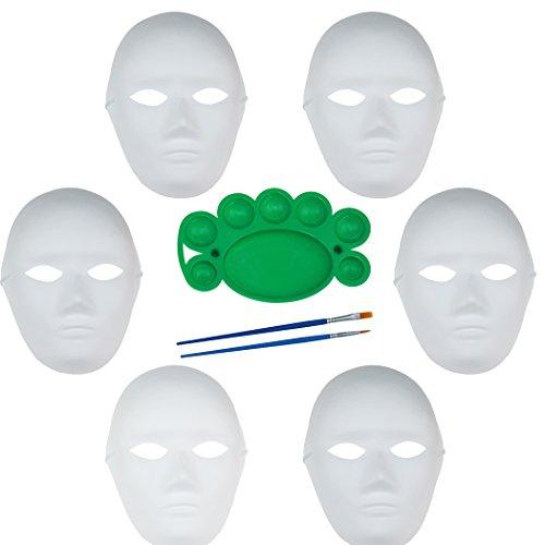 e Maske Halloween Party Cosplay Karneval Maskerade Vollgesichts Handgemachte Maske mit Zwei Bürsten und Einer Pigmentplatte (Diy Halloween-kostüme Für Erwachsene Lustig)