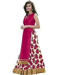 M&M World Women's Pink Banglori Silk Indo-Western Salwar-Suit