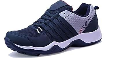 Ethics Men's Orange Stylish Sports Running Shoes (10, Navy Blue)