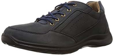 Woodland Men's Navy Leather Lace-Up Shoes - 10 UK/India (44 EU)