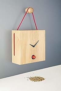 Diamantini & Domeniconi orologio a cucù 25x 25x 10cm legno di cedro Lebanese Toiture, rosso