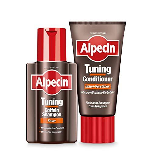 Alpecin Tuning Coffein-Shampoo Braun 1 x 200 ml und Tuning-Conditioner Braun-Verstärker 1 x 150 ml - Farb-Tuning bei jeder Haarwäsche