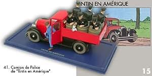 Le camion de police de Tintin en Amérique. #41. Atlas. Moulisnart. Hergé. En voiture tintin