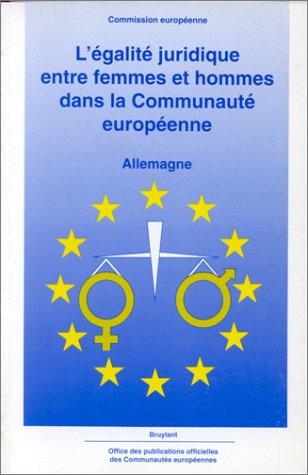 Egalité juridique entre femmes et hommes dans la Communauté européenne : Allemagne
