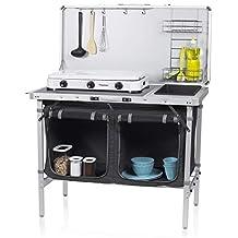 CAMPART TRAVEL Cocina de Camping Granada KI-0757 – Cocina Completa – Bolsa de Almacenamiento