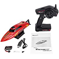 795-3 30km/h 2.4G Brushed High Speed RC Racing Boat Speedboat Ship with Water Cooling System Self-righting Kids Gift - Compare prices on radiocontrollers.eu