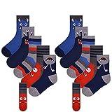 Boys FCO 10 Pack Monsters Design Socks Size UK 9-12/EU 27-31