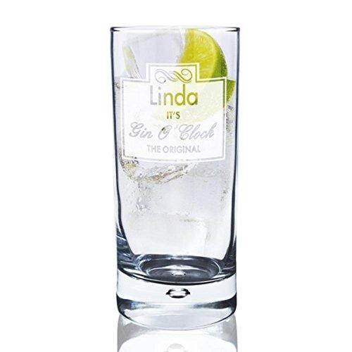 personalisierbar Gin O Uhr Hi Ball Bubble Glas–mit Kostenlose Personalisierung
