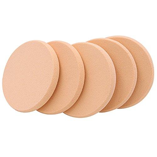 5Stk. Sanft Makeup Puderquaste Make-up Schwamm Schwämmchen Kosmetikschwämmchen (Round Schwamm)
