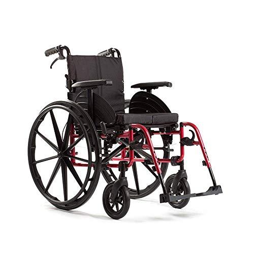 YZ-YUAN Sport-Rollstühle 15 kg Tragbare Faltbare Komfortable Armlehne Rückenlehne Sitz Schaukel Beinstütze 100 kg Tragelager 46 * 41 cm Sitz & Ergonomischer Rollstuhl -