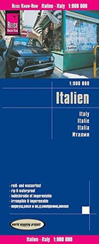Italia 1:900.000 mapa impermeable carreteras