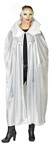 Science Fiction Alien Umhang 120 cm - Silber - Alien Weltraum Weltall Fantasy Cape für Herren und Damen