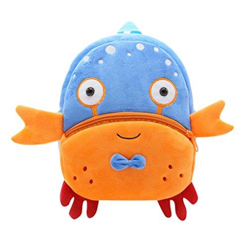 Winkey Rucksack für Kinder/ Baby, Mädchen und Jungen, niedlich, Schultasche, Umhängetasche Crab 26.5x24x10.5cm wide 20cm x height 24cm