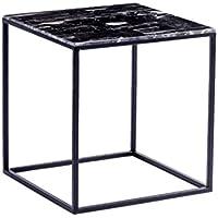 CB Metall Quadratischen Tisch, Nordischen Stil Wohnzimmer Beistelltisch  Kleinen Couchtisch Marmor Dekoration Tisch Beiläufigen Lesetisch