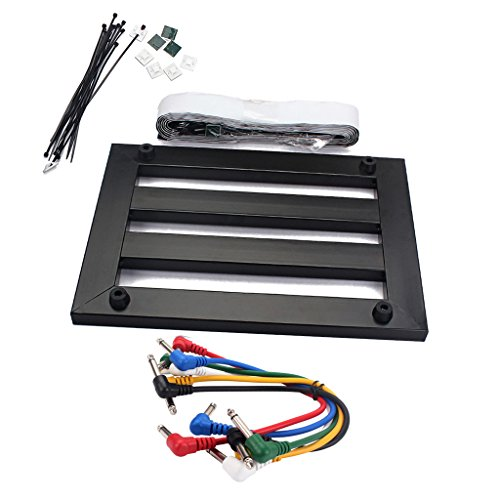 Sharplace Gitarren-Effektpedal Board Pedalboard + 6pcs Effekte Pedal Kabel Draht Guitar Effect Pedal Board