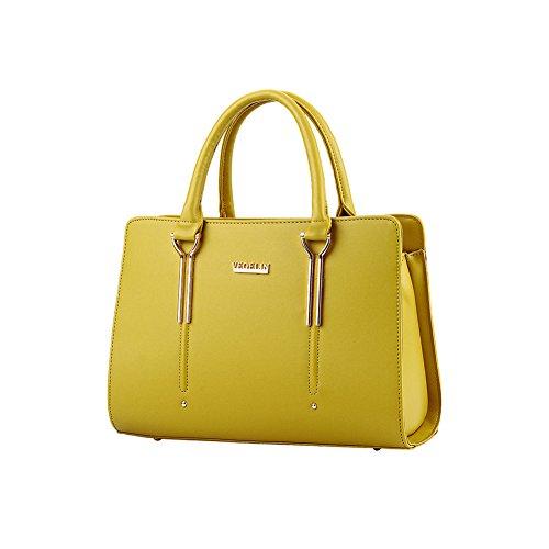 Xiaoxuan, Borsa a spalla donna Blu profondo giallo