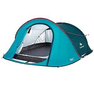 Quechua 2 Seconds 3 Persons Tent (Blue)